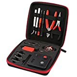 New Version Coil Building Tool Kit Home DIY Tool Set, 13 Pieces General Household Toolkit Repair Tool Set 6 in 1 Coil Jig for Home Maintenance Jewelry Industrial Repairs with Toolbox Storage Case