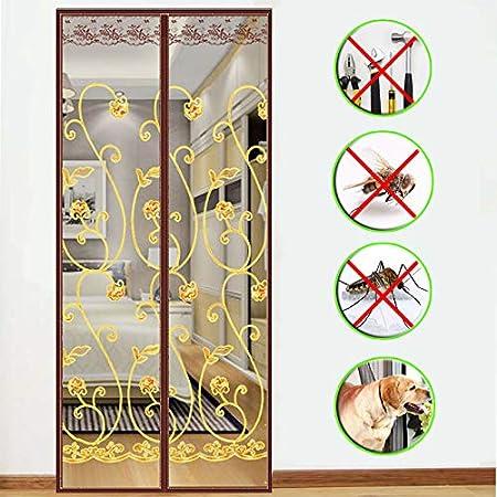 Magnet Fliegengitter T/ür Insektenschutz 80x200~130x220cm,Der Magnetvorhang ist Ideal f/ür die Balkont/ür 39x79inch Kellert/ür Und Terrassent/ür Kinderleichte Klebemontage Ohne Bohren,B,100x200cm