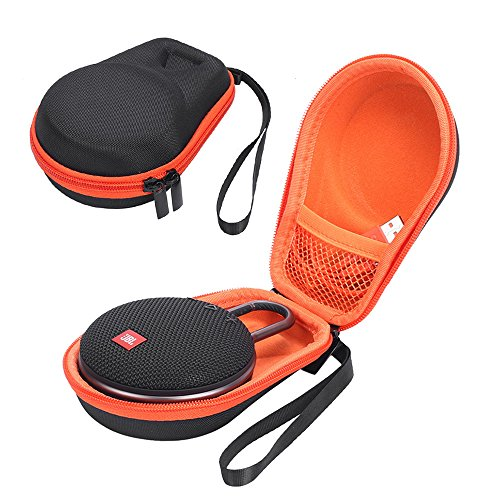Hard Case for JBL Clip 3 Portable Bluetooth Carry Cover Bag Protective Box (Black+Orange)