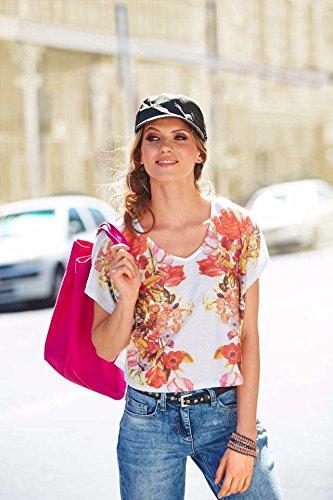 Opaque Creme Femme shirt Multicolore T Aniston bunt wxqXEE