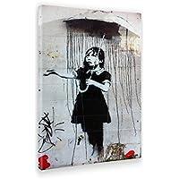 GIALLO BUS - Quadro - Stampa su Tela Canvas - Banksy - Umbrella Girl