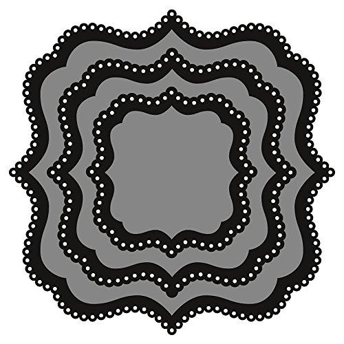 Metal Grey Marianne Design Craftables Fustelle Quadrato Classico di Base 18x14.5x3 cm