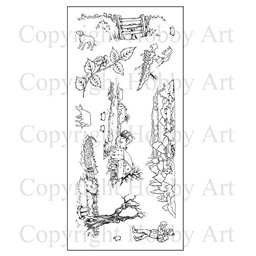 Hobby Art Clear Country Ramble Stamps CS123D