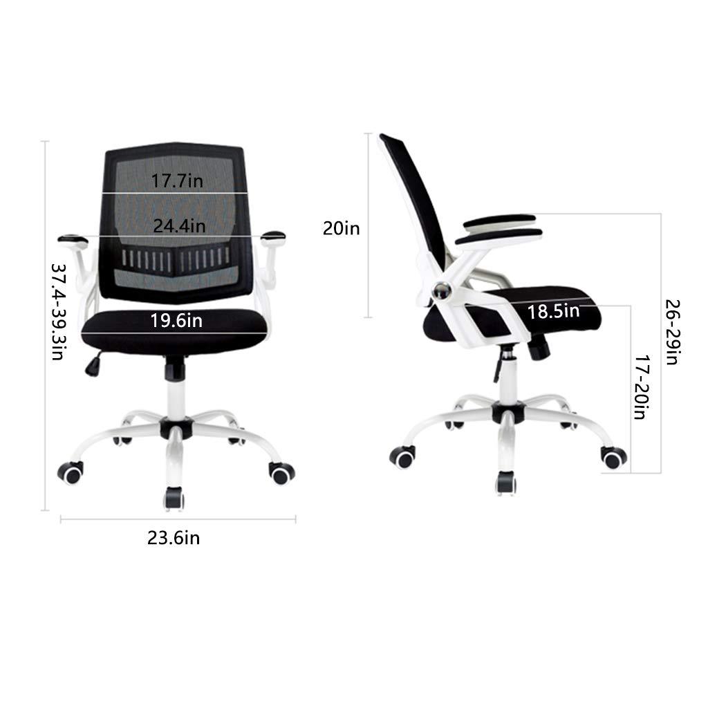 kontorsstol skrivbord ergonomisk rotation utförande justerbar uppgift dator hög rygg stol hemma stöd bakbord och stol svart, orange, blå justerbart armstöd Svart
