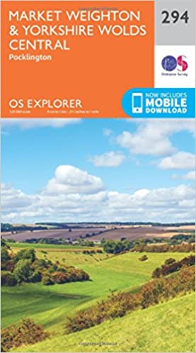 OS Explorer Map (294) Market Weighton and Yorkshire Wolds Central ...