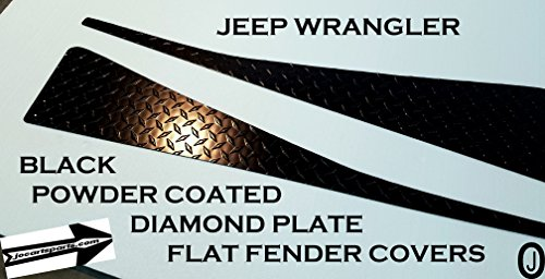 J & O Carts Parts Jeep Wrangler YJ Black Powder Coated Diamond Plate Fullsize Fender Covers