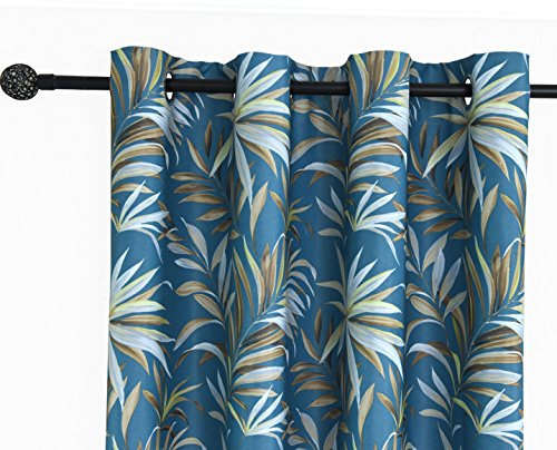 ITEXTILOGIE Blackout Grommet Print Curtains for Bedroom|Room Darkening Thermal Insulated Curtain Noise Reducing Panels Window Draperies for living room(2 Panels,53x63 inch Each Panel,Bamboo) by ITEXTILOGIE (Image #2)