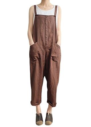 Verrassend Amazon.com: Romacci Women Strappy Jumpsuit Overalls Vintage Harem HK-62