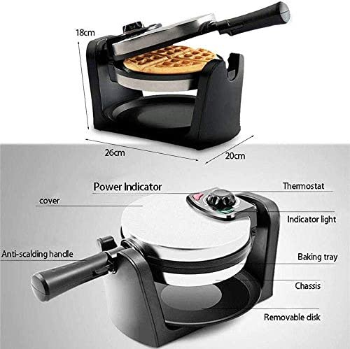 Waffle Makers Irons, multifunctionele Waffle Maker Machine for individuele porties, Donut, Sandwich, met Easy Clean, 180 graden;Roterende Belgian Waffle Iron AQUILA1125