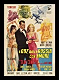 Old Tin Sign Foreign James Bond From Russia With Love Classic Vintage Movie Poster MADE IN THE USA