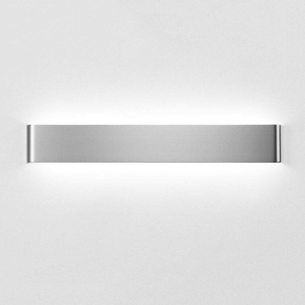 BiuTeFang LED Spiegel Frontleuchte Aluminium Wohnzimmer Schlafzimmer Gang kreativ Bad Wandleuchte (Farbe  silber warmweiß) 111cm 36W