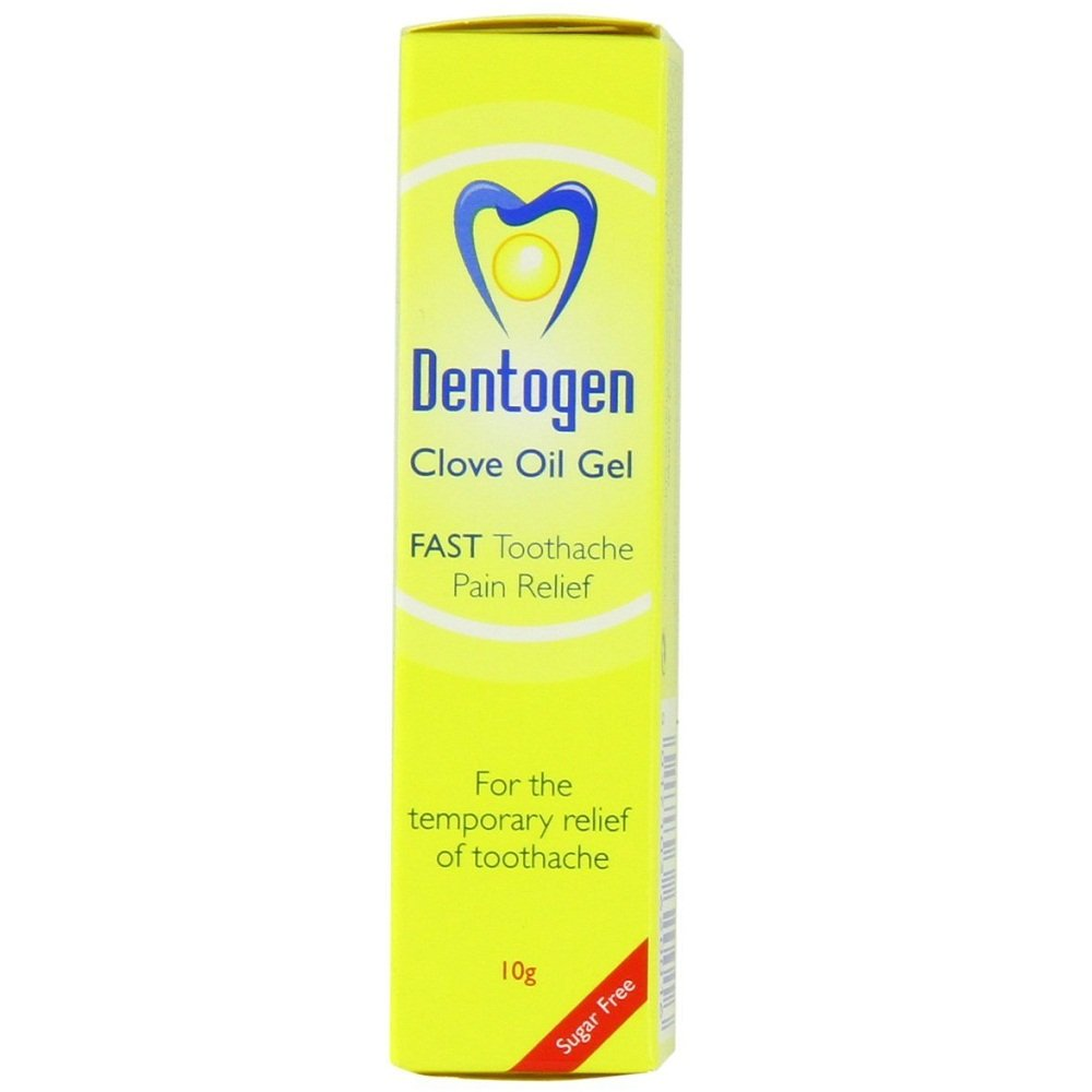 Dentogen Fast Toothache Pain Relief - Sugar Free Clove Oil Gel 10g HealthCentre