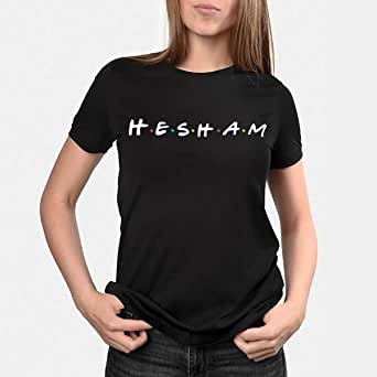 kharbashat Hesham T-Shirt for Women, Size XXL, Black