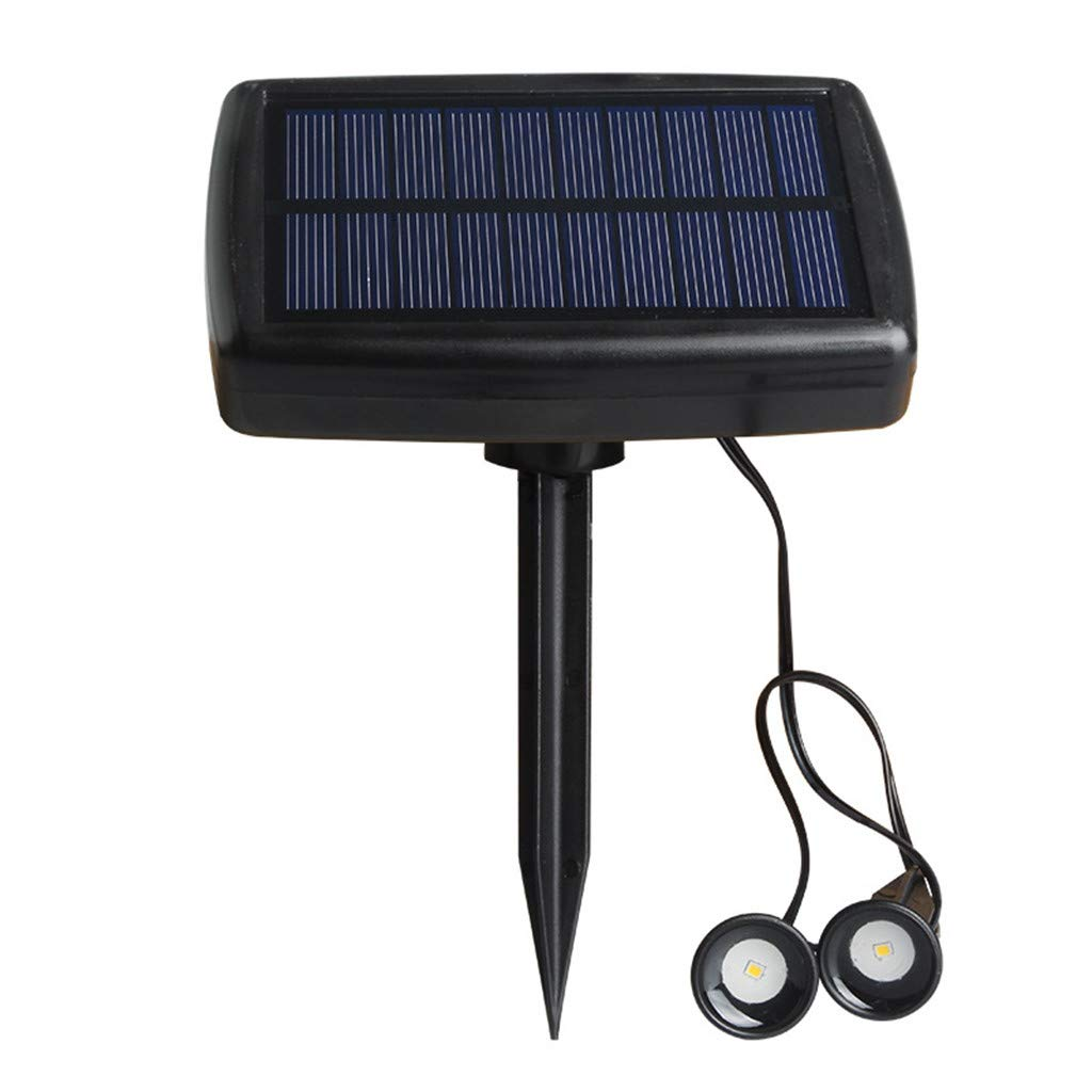 SuperUS Ground Light LED Solar Power Buried Light Under Ground Lamp Outdoor Path Way Garden Decking (Black, 5V 100MA 0.5W)