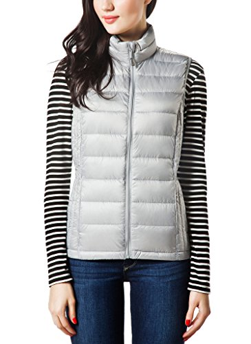 STAY WARM WITH WOMEN'S LIGHTWEIGHT PACKABLE DOWN PUFFER VEST! (15 COLORS)