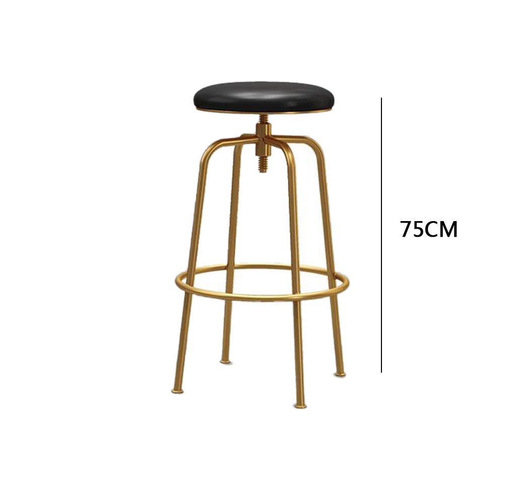 C FFLSDR Bar Chair, golden Bar Chair, Bar Stool, Front Desk Chair, Leisure Lift Chair (color   A)