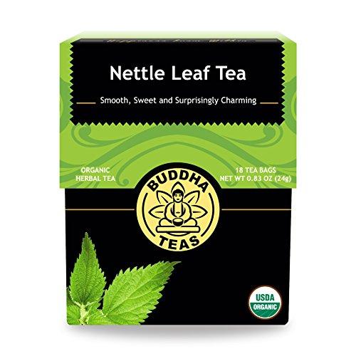 (Organic Nettle Leaf Tea - Kosher, Caffeine-Free, GMO-Free - 18 Bleach-Free Tea Bags)