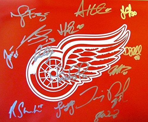 Datsyuk Signed Detroit Red Wings - 2014-15 DETROIT RED WINGS MULTI SIGNED PHOTO POSTER 11x14 w/COA DATSYUK ZETTERBERG MRAZEK
