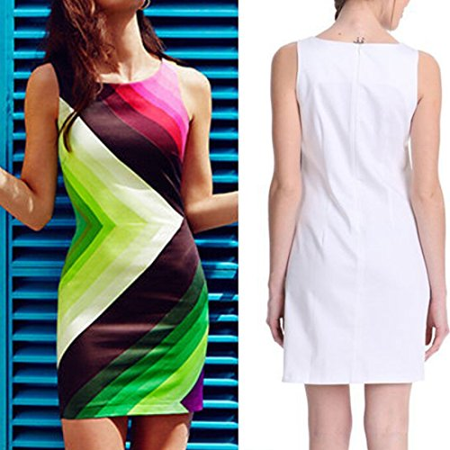 Qiyun - Vestido para mujer As Shown