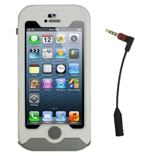 online store d4875 c8f0a Incipio IPH-070 Atlas Waterproof Ultra Rugged Case for Apple iPhone 5 -  Bulk Packaging - White