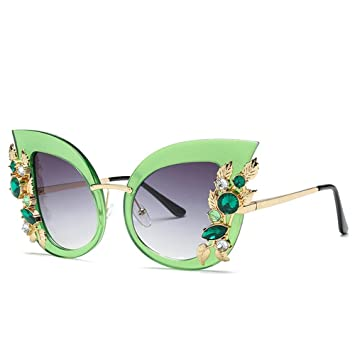 XIELH Gafas de sol Moda Cat Eye Sunglasses Mujeres Retro ...
