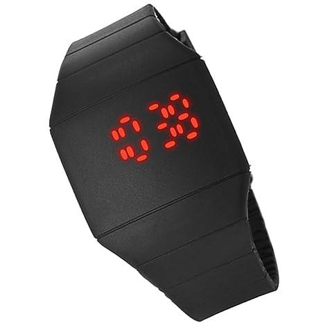 zcsmg portátil Unisex Digital táctil LED silicona reloj de pulsera deportivo Ultra-thin reloj (