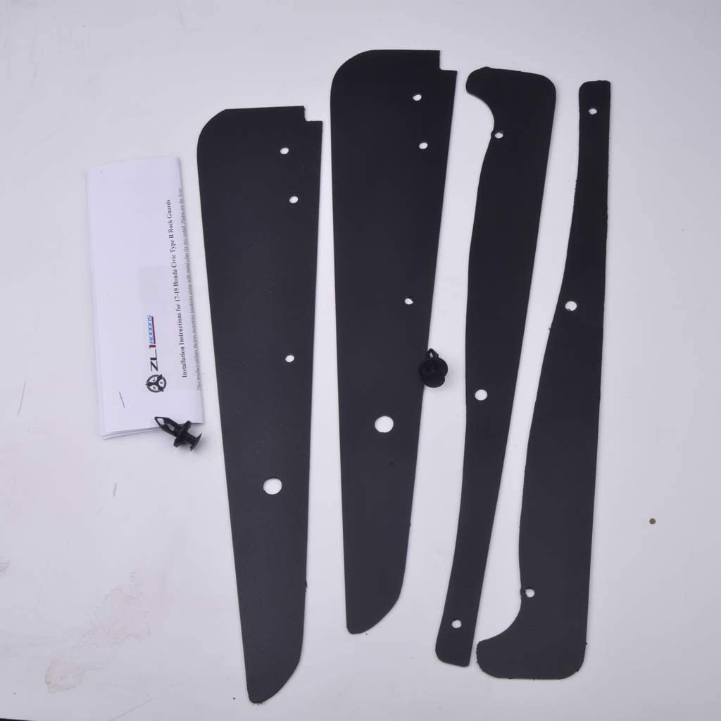 Compatible with 17-19 Honda Civic Type-R ZL1 Addons Front /& Rear Standard Rock Guards Front /& Rear