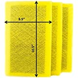 Air Ranger Replacement Filter Pads 12x12 (3 Pack) YELLOW