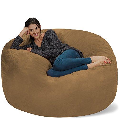 Earth Microsuede Covers - Chill Sack Bean Bag Chair: Giant 5' Memory Foam Furniture Bean Bag - Big Sofa with Soft Micro Fiber Cover - Earth