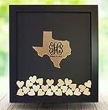 Texas Wedding Guestbook Frame, Dropbox Guestbook ,Alternative Guestbook ,Drop in Heart Wedding Guestbook, Texas State shape