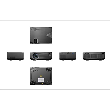 Proyector pequeño Mini portátil portátil Compatible con 1080P ...