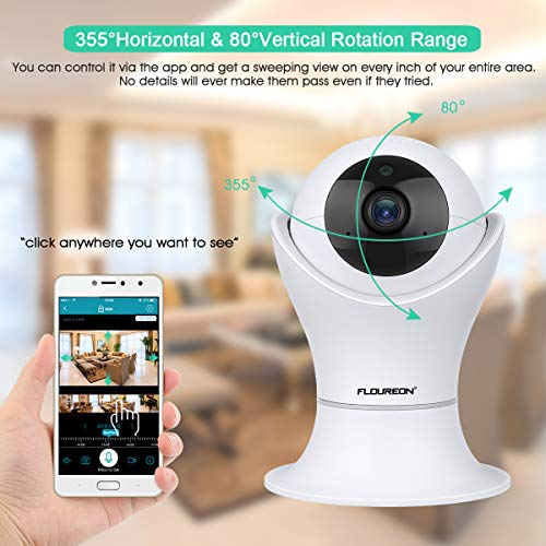 FLOUREON 1080P Dome IP Kamera WLAN Überwachungskamera PTZ