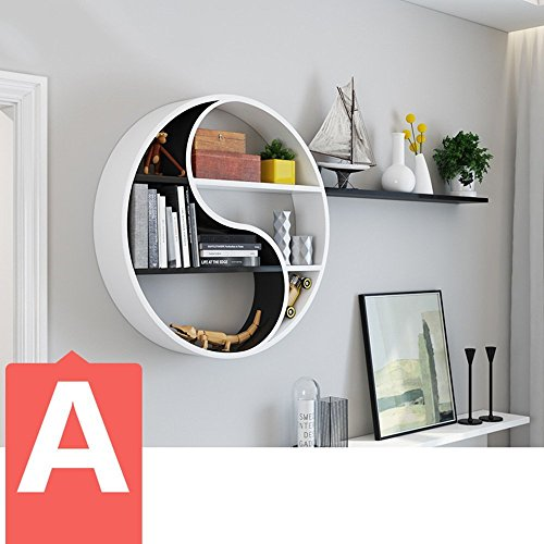 HOMEE Wall Shelf Modern Minimalist Wall Decorations Living Room Decoration Wall Shelf Wall Wall Wall Wall Decoration (Multiple Styles Available),A by HOMEE