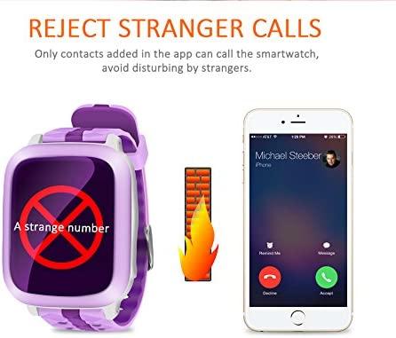 Smartwatch Montre Enfants GPS Tracker 1.44 inches Localisateur GPS SmartWatch avec sim fonction SOS Horloge téléphone anti-perso geo-fence GPS ...
