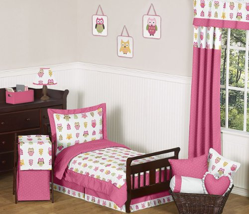 Sweet Jojo Designs Baby/Kids Clothes Laundry Hamper for Pink Happy Owl Bedding by Sweet Jojo Designs (Image #2)