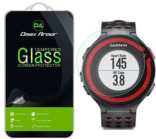 [2-Pack] Dmax Armor for Garmin Forerunner 235 / 225 / 630 / 620 / 220 / 230 [Tempered Glass] Screen Protector with Lifetime Replacement Warranty