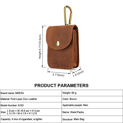 Bag Mini Layer Taille bags Brown De Buckle Sac New Hommes Leather Pour Casual Top Scsy Pockets zBqOPpO
