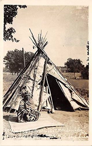 Indian Trading Post Mile Lace Lake, Minnesota, MN, USA Indian Postcard