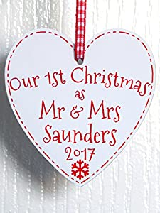 Our First Christmas Together As Mr and Mrs Heart Decoration ...