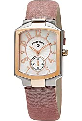 Philip Stein Classic Square Womens Stainless Steel Plated Rose Gold Watch - Metallic Lavender Leather Band Natural Frequency Technology Philip Stein Watch 21TRG-FW-CMLA