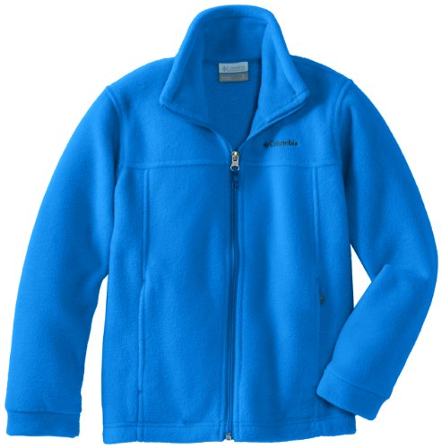 Columbia Big Boys' Steens MT II Fleece Jacket, Hyper Blue, - Childrens Fleece Embroidered