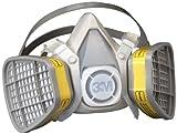 3M Half Facepiece Disposable Respirator Assembly 5303/21579, Organic Vapor/Acid Gas Respiratory Protection, Large (Case of 12)