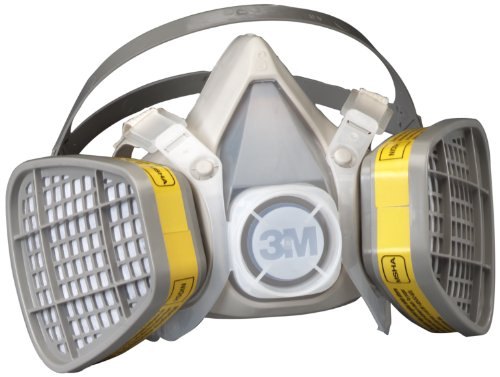 3M Half Facepiece Disposable Respirator Assembly 5303/21579, Organic Vapor/Acid Gas Respiratory Protection, Large (Case of 12) (Gas Assembly Respirator)