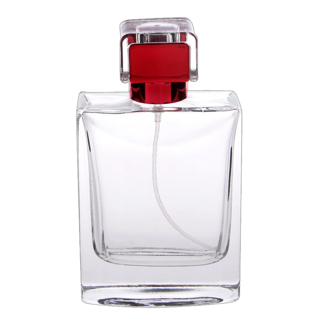 100ml Perfume Spray Bottle Rectangle Atomizer Refillable Travel Gift - Red, 3XL Generic