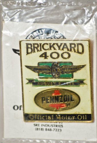 1995 - SRE Industries - Indianapolis Motor Speedway - Brickyard 400 / August 5, 1995 - Pennzoil - Official Motor Oil - Hat Pin - New - Rare - Out of Production - Limited Edition - Collectible