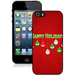 Personalized Phone Case Design with Happy Holidays Red iPhone 5s Wallpaper
