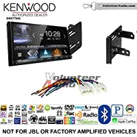 Volunteer Audio Kenwood DMX7704S Double Din Radio Install Kit with Apple CarPlay Android Auto Bluetooth Fits 2012-2014 Non Amplified Toyota Yaris