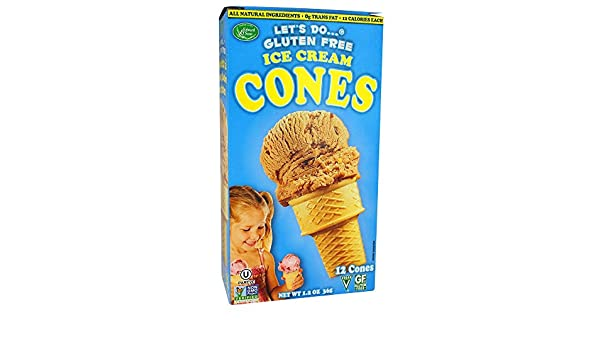 Amazon.com: Lets Do - Gluten Free Ice Cream Cones - 1.2 oz ...