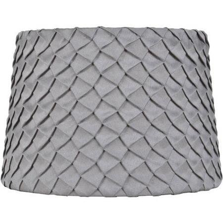 Better Homes and Gardens Gray Pleated Round Hardback Shade ()