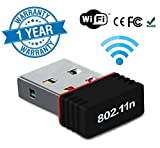 Wonderford 300Mbps, 2.4Ghz, USB 2.0 Wireless Mini Wireless Receiver and Transmitter Wifi Adapter (1 Year Warranty, Assorted Colour)